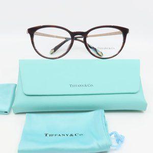 TF 2128-B 8207 Tiffany & Co Brown Round Glasses